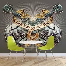 skull alchemy wallpaper mural guitar