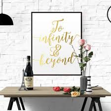 gold foil print real gold foil printable download file to infinity beyond typography wall decor on beyond the wall art prints and posters with shop infinity wall art on wanelo
