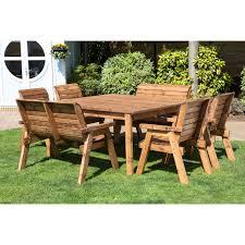 wooden outdoor furniture.  Outdoor Garden Gorgeous Wooden Table Bench Seats  On Outdoor Furniture