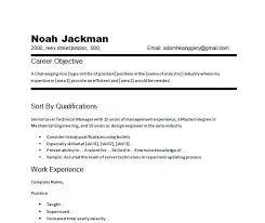 Job Objectives On Resume simple objective for resume samuelbackman 49