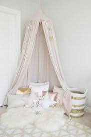 Numero 74 Canopy With Star Pillows In Girl Room. Designed By Melissa ...