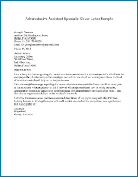 Administrative Assistant Cover Letter Example 215