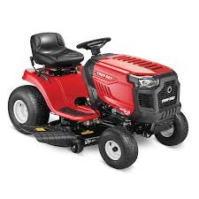 riding lawn mower. troy-bilt bronco 19-hp automatic 42-in riding lawn mower h