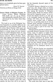 Quezon: Paladin of Philippine Freedom. By Carlos Quirino. Manila ...