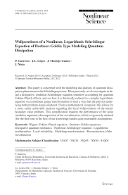 wellposedness of a nar logarithmic schrödinger equation
