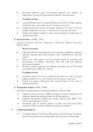 Chemist Resume Adorable Chemistry Resume Example Arzamas