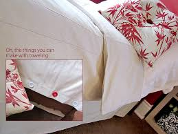 twin duvet cover bed skirt from moda toweling sew4home image titled use a