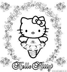 Small Picture Hello Kitty Coloring sheet Coloring Pages Pinterest Hello