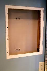 Medicine Cabinet Frame How To Turn Old Medicine Cabinet Into Open Shelving O Charleston