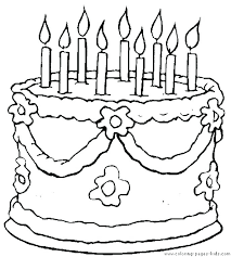 Cake Coloring Pages Free At Getdrawingscom Free For Personal Use