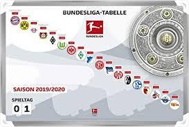 Seasons run from august to may. Dfl Deutsche Fussball Liga 1 Bundesliga Magnettabelle 2019 2020 Amazon De Sport Freizeit