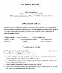Mba Resume Format Pelosleclaire Com