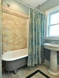 claw foot bath tub shower tub shower curtain rod satin green printed for with light grey claw foot bath tub
