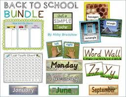 Bundle Of Classroom Basics Lost Tooth Chart No Clip Transportation