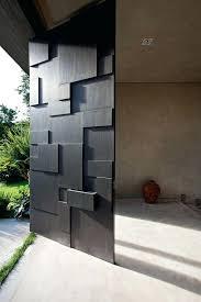 modern metal doors modern sculptural black front door modern metal garage doors
