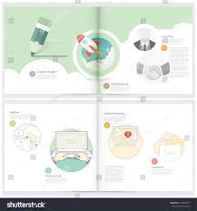 SlideModel com   Business Case Study PowerPoint Template Classic Case Study Booklet  brochure design template for business with  concept icons