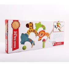 Wooden Baseball Game Toy 100PcsSet Kids Lovely Wooden Game Toy Cartoon Baseball Croquet Game 74