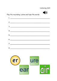 From novice to master learners. Phonics Sounds Ear Air Ure And Er Worksheet