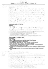 Sample Security Consultant Resume Consultant Security Resume Samples Velvet Jobs