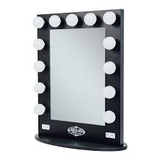 modern lighted makeup mirror for your interior decoration amazon com broadway vanity gloss lighted make up mirror a43