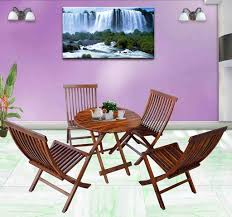 dining room folding chairs. Mamta Decoration Set Of 5 Piece Dining Cappuccino Folding Chair And Round Table (Walnut Room Chairs A