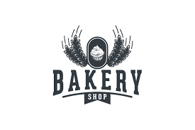 Cupcake And Wheat Vintage Bakery Shop Logo Graphic By