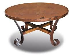 ridge round copper coffee table