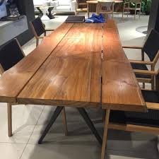 Gloster has gone over the top with the NEW Split Raw dining table