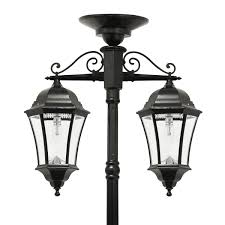 victorian bulb double downward hanging solar lamp post gs 94b cd