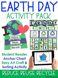 Earth Day Anchor Chart Earth Day Pack Book Anchor Chart Easy Art Sorting Foldable