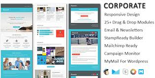 Newsletters Templates Corporate Responsive Email Newsletter Templates With Online Stampready Mailchimp Builders Access