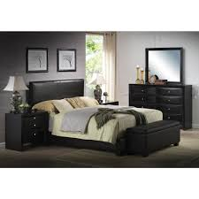 acme furniture ireland black full upholstered bed 14440f the home depot