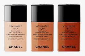 chanel vitalumière aqua ultra light skin perfecting sunscreen makeup broad spectrum spf 15