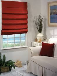 Hobbled Roman Shades Have Soft Overlapping Folds.