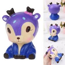 <b>Lovely</b> Galaxy <b>Deer Cartoon Animal</b> Soft Slow Rising Squishy Stress ...