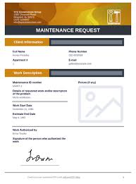 Request For Information Template Maintenance Request Template Pdf Templates Jotform