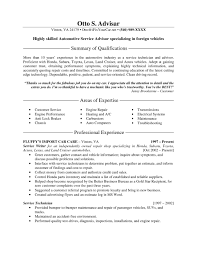 Service Advisor Sample Resume Best Ideas of Service Advisor Resume Sample About Summary Sample 1