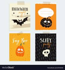 Halloween Invitations Cards Set Of Cute Halloween Party Cards Invitations
