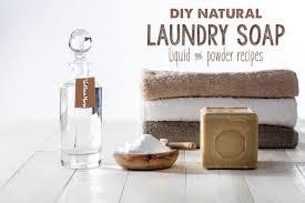 liquid or powder natural laundry detergent
