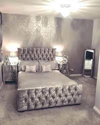 bedroom dark grey glitter wallpaper