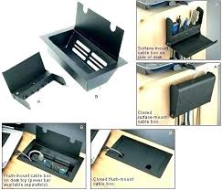 office cable management. Office Desk With Cable Management Tray Hide The Grommet
