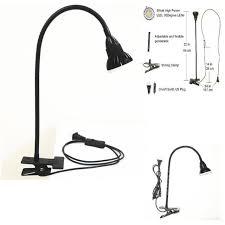 table goose neck led lamp clamp clip desk bright flexible adjule work light