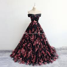 Gown Dress Design 2018 2019 New Design Off The Shoulder Prom Dresses Evening Gown Flower Pattern Ball Gown Party Quinceanera Dresses Black Prom Dresses Plus Size Prom