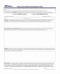 Personnel Form Fresh Employee Write Up Form Employees Write Up