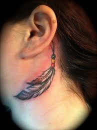 Feather Tattoo On Neck For Girls Tattoos Book 65000 Tattoos Designs
