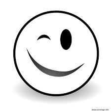 Coloriage Winky Face Emoji Dessin