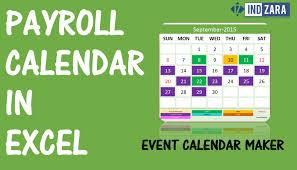 Payroll Calendar Template Payroll Calendar using Event Calendar Maker Excel Template YouTube 1