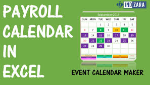 excel payroll template payroll calendar using event calendar maker excel template youtube
