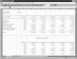 Sample Budget Worksheet Beauteous Creating Your Budget Spreadsheet Oracle General Ledger Users' Guide