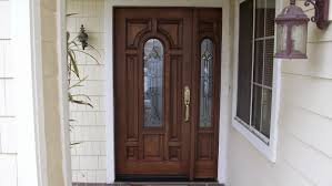 wood entry doors with sidelights front door one sidelight transom